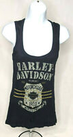 Harley Davidson Women's Milwaukee Tank Top Shirt Size Large Color Dark Blue