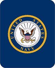 Queen US Navy Emblem United States Military Faux Fur Fleece Blanket Super Plush