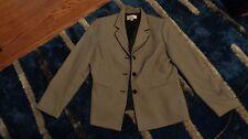 """Womens """"Le Suit"""" 2 Piece Jacket (size 12) & Skirt (size 12P) Black Gray Perfect"""