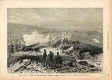 Bataille Siège d'Erzurum Erzéroum Turquie Empire Ottoman Arménie GRAVURE 1877