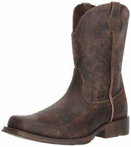 Ariat Men's Rambler Western Boot, Antiqued Grey 10025171