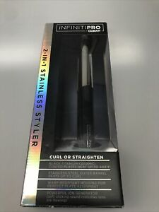 "Conair INFINITI PRO 2-in-1 Stainless Styler Curl or Straighten 1"" Model CS480"