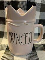 New Rae Dunn Pink Princess Mug With Crown Topper. HTF