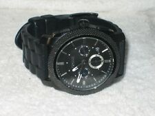 Fossil FS-4487 Machine Chronograph Black Dial Black Silicone Men's Watch