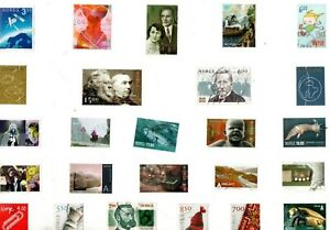 A MIX OF 25 DIFFERENT GOOD/FINE USED COMMEMORATIVE STAMPS FROM NORWAY