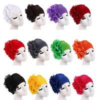 Womens Hair Loss Head Scarf Turban Cap Flower Muslim Cancer Chemo Cap Hat Cover