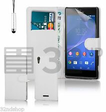 32nd Book PU Leather Wallet Case for Sony Xperia T3 + Screen Protector & Stylus