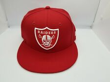 NEW ERA 59FIFTY FITTED HAT.  NFL.  OAKLAND RAIDERS.  RED.