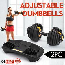 Fitness Strength 552 Adjustable Dumbbells Set (2Pc) Dumbbell 24kg Gym Strong