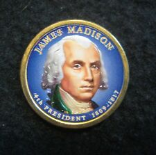 Colorized 2007 James Madison Presidential Dollar