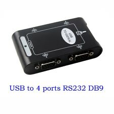 4 port RS232 to USB 2.0 adapter USB Serial DB9 COM converter Controller Card