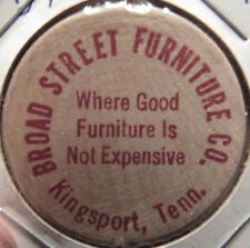Vintage Broad Street Furniture Kingsport, TN Wooden Nickel - Token Tennessee