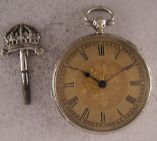 Lovely 130-Years-Old Cylindre KW/KS Swiss SILVER Pocket Watch Perfect Serviced