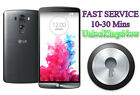 Remote Unlock Service LG F6 F60 G2 G3 G4 G5 L70 L90 V10 V20 X5 and many more