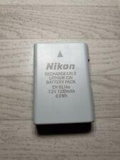 Nikon EN-EL14a Li-Ion Digital Camera Battery Pack En EL14 el 14 1230mAh Genuine