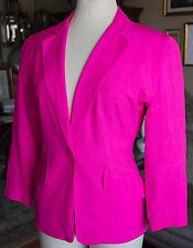 Donna Karan sz 2 signature collection hot pink jacket dress coat
