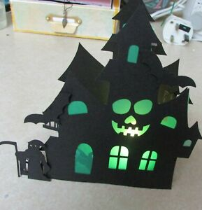 Halloween spooky led  Tea light candle holder ornament celebration gift box