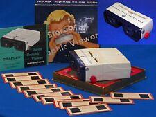 SERVICED 1950s Focusing Graflex 3D Stereo Graphic 35mm Realist Slide Viewer +Box