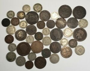Lot of 43 1800's World Coins , most german