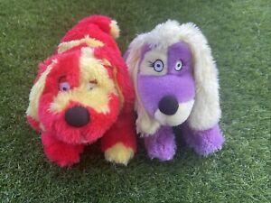"Vintage - Tweenies Izzles and Doodles -10"" Plush Soft Toy Dogs CBEEBIES - 2001"