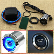 Car 12V Blue LED Engine Start Push Button Switch Ignition Starter Kits DIY
