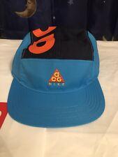 fa8b2a4d83d Nike Nikelab ACG AW84 Adjustable 5 Panel Hat Blue/Orange/Black AO2104-439