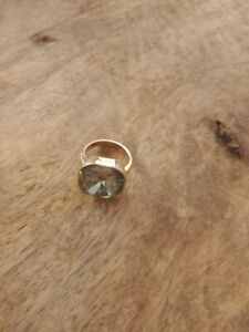 Ring Vintage Vergoldet Topas Steine