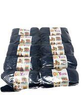 New Lion brand Acrylic Navy Yarn #4 Medium Lot Of 10 Skeins 650 Yards Msrp $45