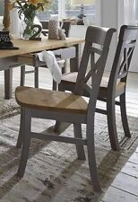 Stuhl 2farbig grau gelaugt geölt Kiefer Holzstuhl Küchenstuhl Vollholz massiv