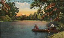 Boating on Yellow Creek Near Indiana PA Postcard 1915