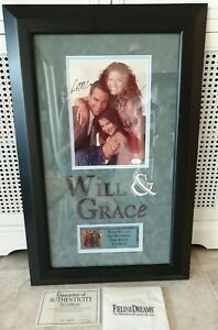 """ORIGINAL """"WILL AND GRACE"""" SIGNED FRAME PERSONALLY AUTOGRAPHED not reproduction"""