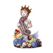 Treasure Chest Mermaid Child Seahorse Fairy Figurine Figure Sheila Wolk statue