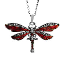 Dragonfly Pendant Charm Necklace with 26inch 66cm Oval Chain