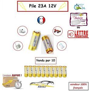 batterie/pile 23A 12v télécommande auto, portail ,alarme etc... vendu par 10