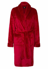 Ladies Piped Dressing Gown Towelling Shawl Collar Dressing Gown Bathrobe Size L