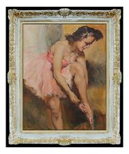 Pal Fried Large Oil Painting On Canvas Original Signed Dance Ballerina Artwork