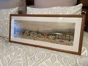 Norman Rockwell Signed Print of Christmas Main Street Stockbridge Massachusetts