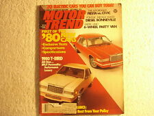 Motor Trend 1979 September Thunderbird Fiesta vs Civic Pontiac Turbo Fairmont