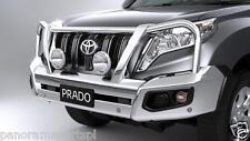 Toyota Prado Polished Alloy Bullbar VX Kakadu with parking Sensors GENUINE NEW