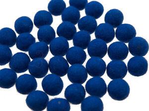 50 Perlen Bälle Von Filztasche Filz Natürlich Ø= 2.1 CM Nepal Blau BO9