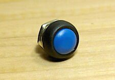 New 12mm Blue OFF (ON) Push Button Horn Switch Horn Button fu
