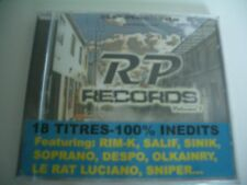 RP RECORDS /VOL.1- CD NEUF RAP FRANCAIS RIM-K SALIF OLKAINRY SNIPER INTOUCHABLE.