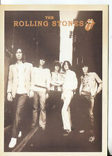 PICTURE POST CARD OF THE ROLLING STONES UNKNOWN DATE LOOKS LIKE 60'S OR 70'S