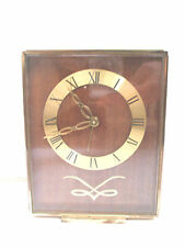 Swiza Swiss 7 Jewels 8Day Gilded Metal Case Winding Movement Alarm Mantle Clock