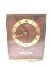 Swiza Swiss 7 Jewels 8Day Gilded Metal Case Winding Movement Alarm Mantle Clock