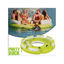 SEVYLOR PARTY DOCK (8 PERSON) INFLATABLE TUBE BISCUIT WATER LOUNGER CHAIR ISLAND