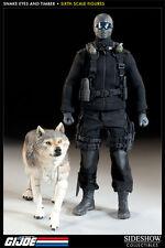 "SIDESHOW G.I. Joe SNAKE EYES & TIMBER 12"" 1/6 Scale Figure Wolf Cobra Ninja"