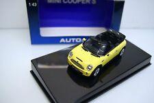 AutoArt 1:43 54851 Mini Cooper S, Cabrio, gelb