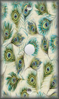Metal Light Switch Plate Cover - Peacock Feathers Home Decor Feathers Peacocks