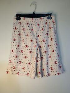 Cat & Jack Red White Skiing Soft Fleece Pajama Shorts Large 12-14 New